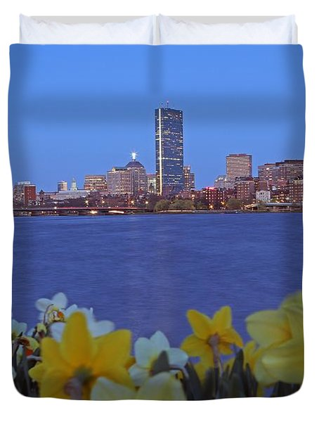 Spring into Boston Duvet Cover by Juergen Roth