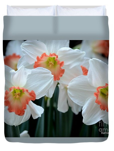 Spring Jonquils Duvet Cover by Kathleen Struckle