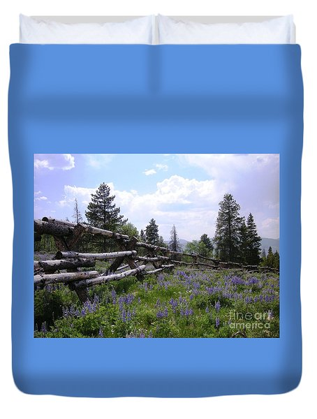 Spring Mountain Lupines 2 Duvet Cover by Crystal Miller