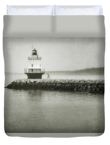Spring Point Ledge Light Duvet Cover by Joan Carroll