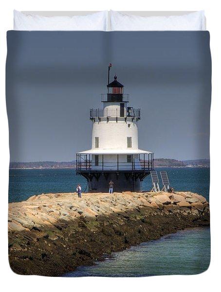Spring Point Ledge Light Duvet Cover by Joann Vitali