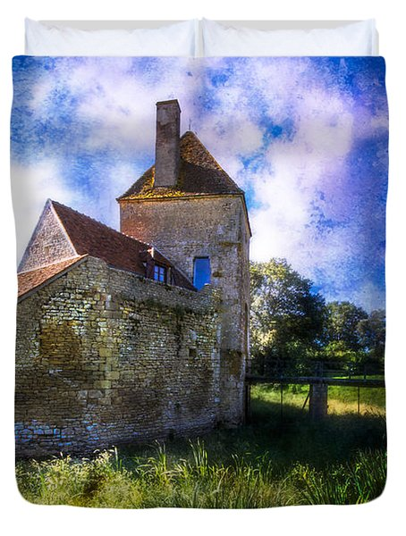 Spring Romance In The French Countryside Duvet Cover by Debra and Dave Vanderlaan