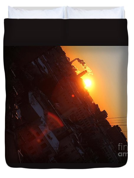 Spring Sunrise Duvet Cover by Anna Yurasovsky