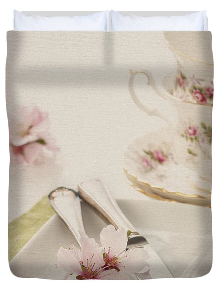 Spring Table Setting Duvet Cover by Amanda And Christopher Elwell