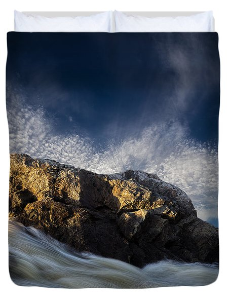 Spring Thaw Duvet Cover by Bob Orsillo