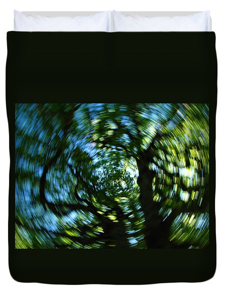 Spring Tree Carousel Duvet Cover by Juergen Roth