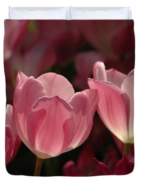 Spring Tulips Duvet Cover by Kathleen Struckle