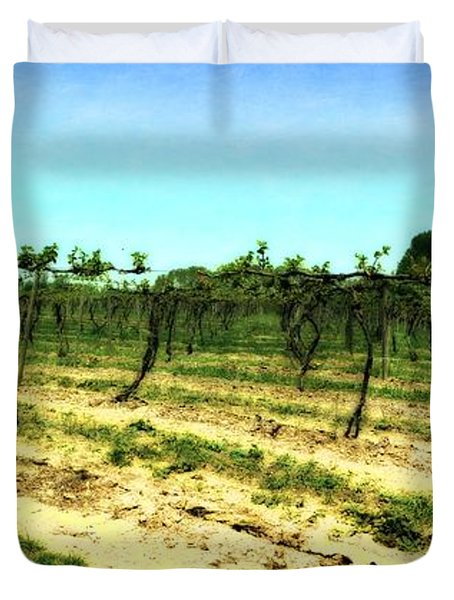 Spring Vineyard Ll Duvet Cover by Michelle Calkins