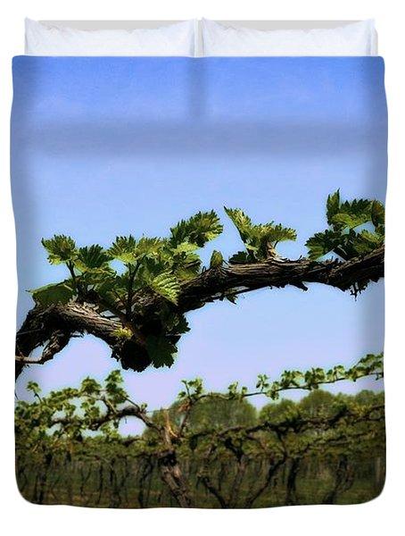 Spring Vineyard Duvet Cover by Michelle Calkins