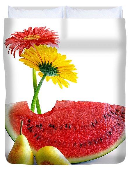 Spring Watermelon Duvet Cover by Carlos Caetano