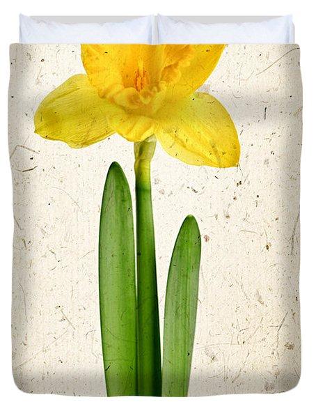 Spring Yellow Daffodil Duvet Cover by Elena Elisseeva