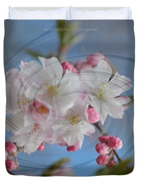 Springing Blossoms Duvet Cover by Sonali Gangane