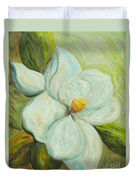 Spring's First Magnolia 2 Duvet Cover by Eloise Schneider