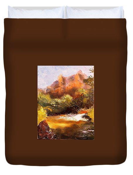Springs In The Desert Duvet Cover by Gail Kirtz