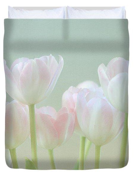 Spring's Pastels Duvet Cover by Kim Hojnacki