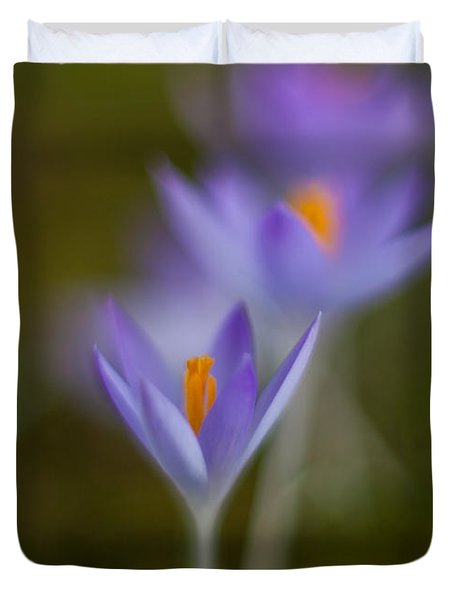 Springs Soft Procession Duvet Cover by Mike Reid