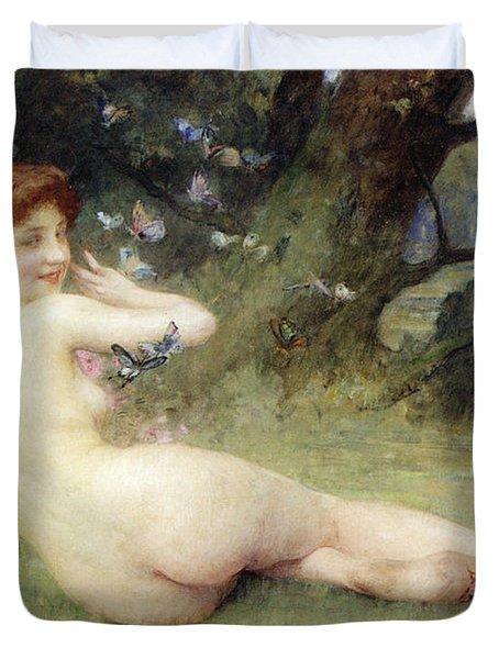 Springtime Duvet Cover by Charles Lenoir