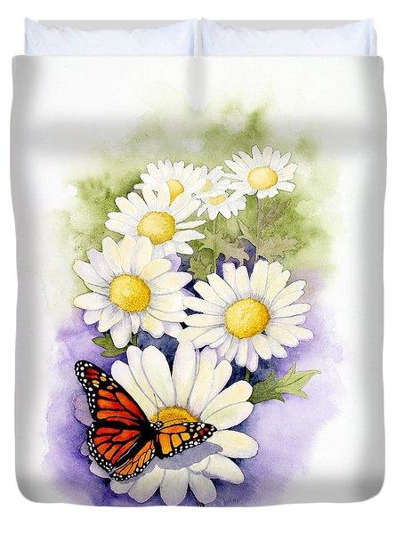 Springtime Daisies  Duvet Cover by Brett Winn