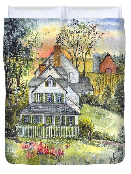 Springtime Down On The Farm Duvet Cover by Carol Wisniewski