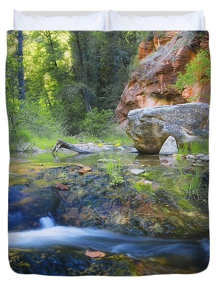 Springtime In The Canyon Duvet Cover by Peter Coskun