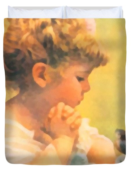 Springtime of Life Duvet Cover by Bessie Pease Gutmann