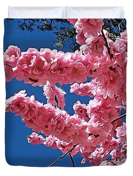 Springtime Pink Duvet Cover by Kaye Menner