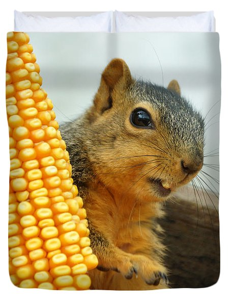 Squirrel Duvet Cover by Lori Tordsen