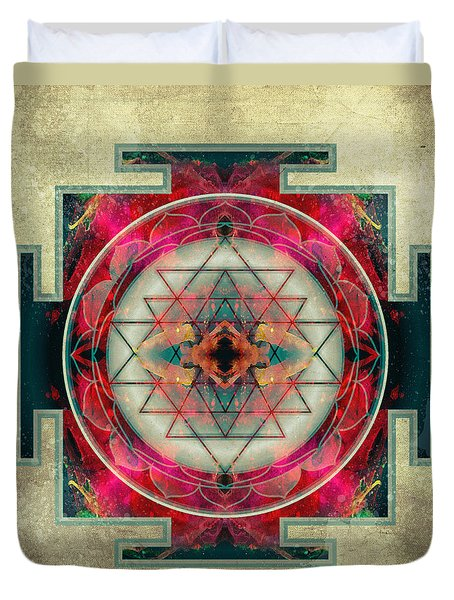 Sri Yantra Duvet Cover by Filippo B