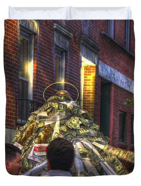 St Anthony's Feast - Boston North End Duvet Cover by Joann Vitali