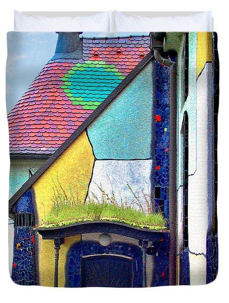 St Barbara Church - Baernbach Austria Duvet Cover by Christine Till