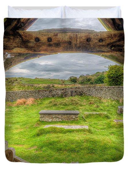 St Celynnin Graveyard Duvet Cover by Adrian Evans