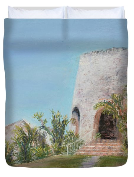 St. Croix Sugar Mill Duvet Cover by Mary Benke