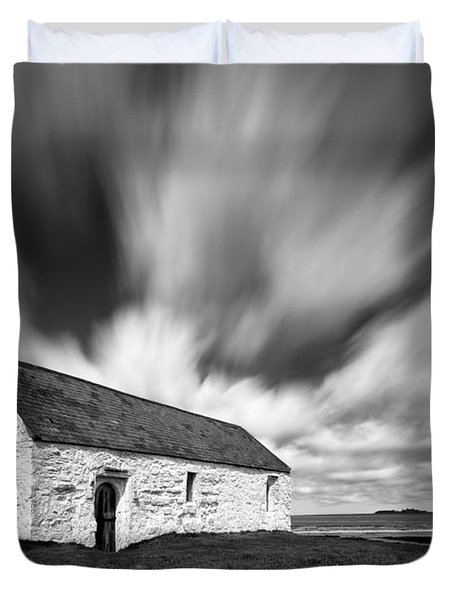 St Cwyfan's Church Duvet Cover by Dave Bowman
