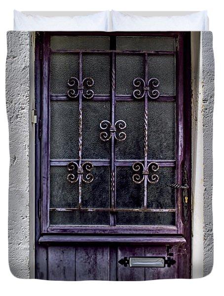 St Emilion Door Duvet Cover by Nomad Art And  Design