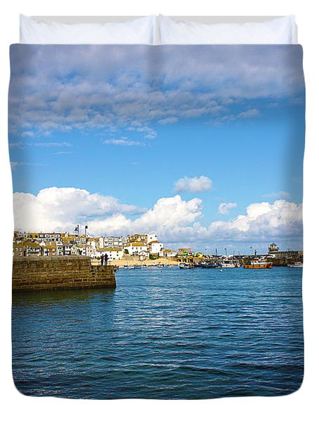 St Ives Cornwall Duvet Cover by Terri Waters