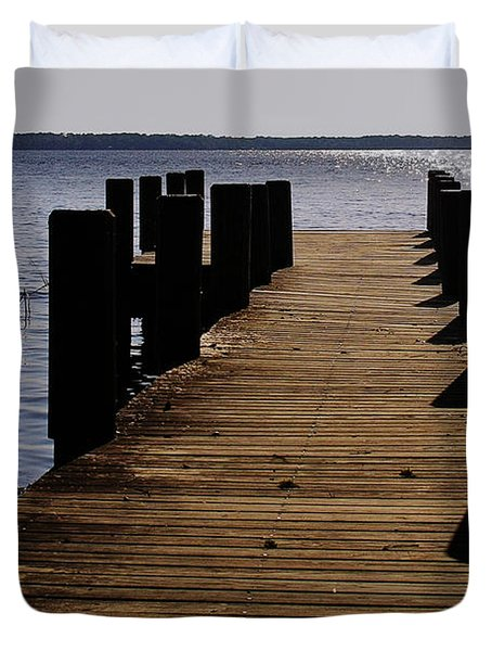 St Johns River FLorida - A chain of lakes Duvet Cover by Christine Till