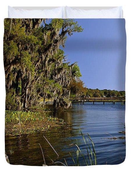 St Johns River Florida Duvet Cover by Christine Till
