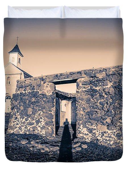 St. Josephs Church Maui Hawaii Duvet Cover by Edward Fielding