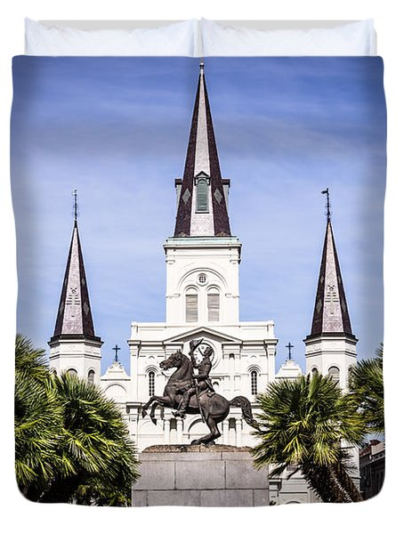 St. Louis Cathedral In New Orleans  Duvet Cover by Paul Velgos