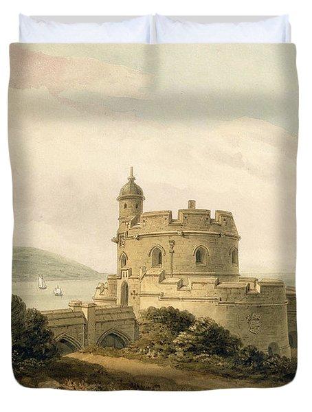 St Mawes Castle Duvet Cover by John Chessell Buckler