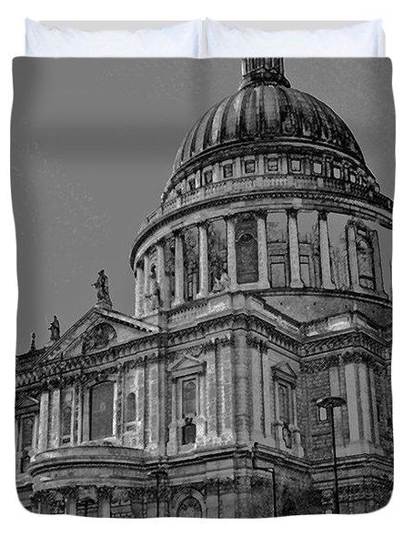 St Paul's Cathedral London Art Duvet Cover by David Pyatt
