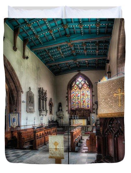 St Peter's Church Duvet Cover by Adrian Evans