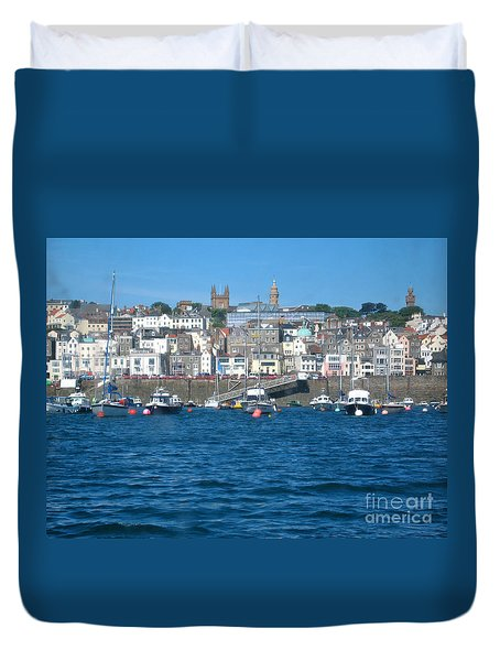 St Peters Port Guernsey  Duvet Cover by Phyllis Kaltenbach