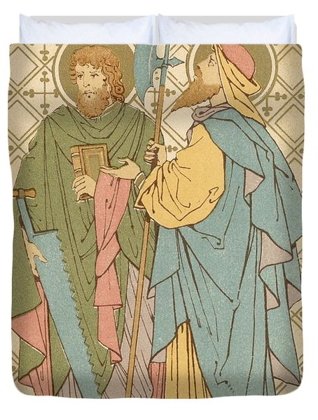 St Simon And St Jude Duvet Cover by English School
