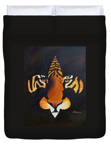 St. Tiger Duvet Cover by Nina Stephens