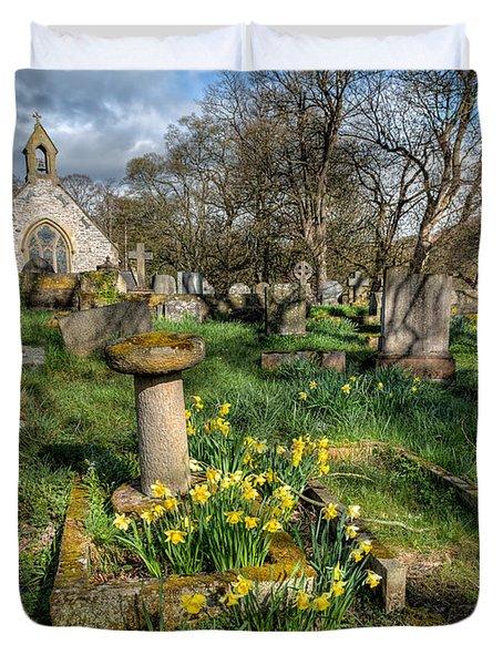 St Tysilio Graveyard Duvet Cover by Adrian Evans