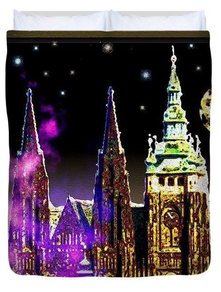 St. Vitus Cathedral Prague Duvet Cover by Daniel Janda