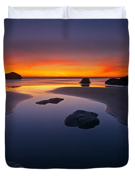 Stacks and Stones Duvet Cover by Mike  Dawson
