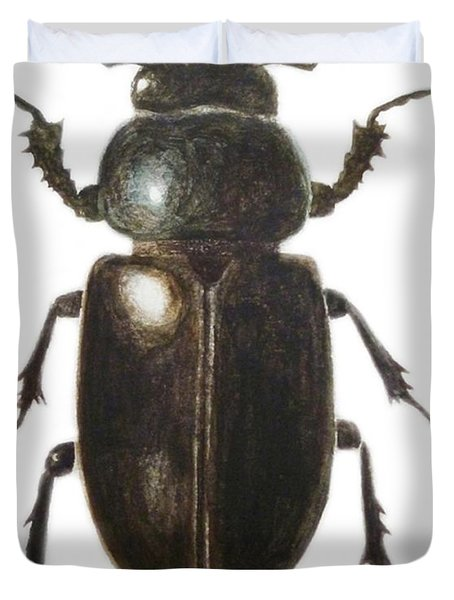 Stag Beetle Duvet Cover by Ele Grafton
