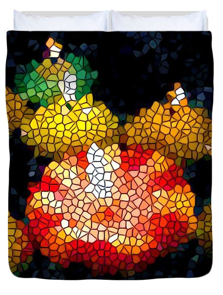 Stained Glass Candle 1 Duvet Cover by Lanjee Chee